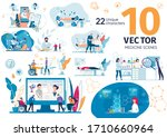 future medicine technologies ... | Shutterstock .eps vector #1710660964