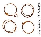 vector brown and beige coffee... | Shutterstock .eps vector #1710676471
