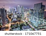 miami  florida  usa downtown... | Shutterstock . vector #171067751