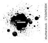 vector black ink splash... | Shutterstock .eps vector #1710690304