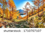 Fantastic Autumn Panorama Over...