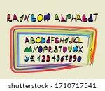 Multicolor Letters. Rainbow...