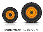 Tractor Wheels. Shadows And...