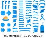 set of blue ribbons for design  ...   Shutterstock .eps vector #1710728224