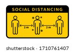 social distancing. keep the 1 2 ... | Shutterstock .eps vector #1710761407