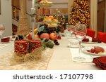 table set of a christmas dinner ... | Shutterstock . vector #17107798