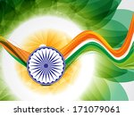 wave republic day background... | Shutterstock .eps vector #171079061