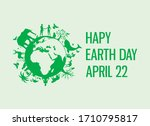 happy earth day with animals... | Shutterstock .eps vector #1710795817