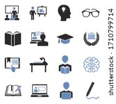learning icons. two tone flat... | Shutterstock .eps vector #1710799714
