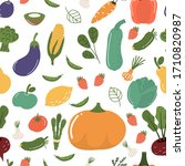fruits and vegetables seamless... | Shutterstock .eps vector #1710820987