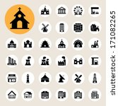 Buildings Icon Set.illustratio...