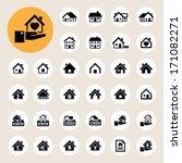 houses icons set. real estate.... | Shutterstock .eps vector #171082271