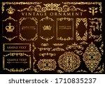 vintage floral ornament.... | Shutterstock .eps vector #1710835237