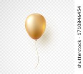 balloon isolated on transparent ... | Shutterstock .eps vector #1710846454