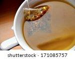 close up of luxury tea bag in... | Shutterstock . vector #171085757