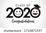 class of 2020 congratulations... | Shutterstock .eps vector #1710872557