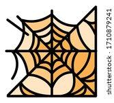 spider web icon. outline spider ...   Shutterstock .eps vector #1710879241