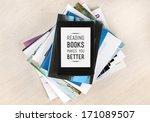 reading books makes you better  ... | Shutterstock . vector #171089507