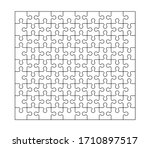 set of ninety puzzle pieces.... | Shutterstock .eps vector #1710897517