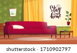 stay home hand lettering text... | Shutterstock .eps vector #1710902797
