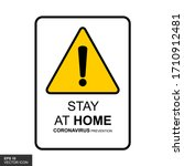 stay at home  design posters... | Shutterstock .eps vector #1710912481
