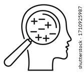 anxiety bipolar disorder icon.... | Shutterstock .eps vector #1710925987