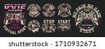 big set of illustration on the... | Shutterstock .eps vector #1710932671