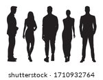 business people silhouettes ... | Shutterstock .eps vector #1710932764