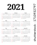calendar for 2021 isolated on a ...