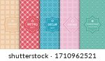 set of seamless line patterns ... | Shutterstock .eps vector #1710962521