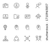 business management line icons... | Shutterstock .eps vector #1710965857