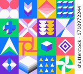squares and geometric shapes...   Shutterstock .eps vector #1710972244
