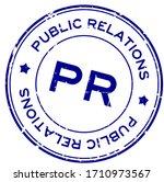 grunge blue pr public relations ... | Shutterstock .eps vector #1710973567