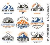 mountain adventure badge travel ... | Shutterstock .eps vector #1710980314