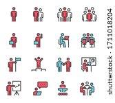 meeting icon vector... | Shutterstock .eps vector #1711018204