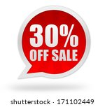30 percent off sale | Shutterstock . vector #171102449