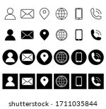 contact glyph icons. contact...   Shutterstock .eps vector #1711035844