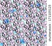 ink lotus seamless pattern.... | Shutterstock .eps vector #171105125