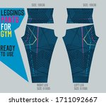 leggings pants vector for gym... | Shutterstock .eps vector #1711092667