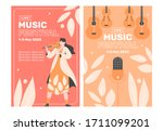 two poster templates for a... | Shutterstock .eps vector #1711099201