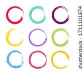 set circles line textured hand... | Shutterstock .eps vector #1711101874