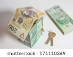 polish zloty on a white... | Shutterstock . vector #171110369