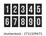 mechanical scoreboard numbers... | Shutterstock .eps vector #1711109671