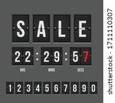 sale countdown timer vector... | Shutterstock .eps vector #1711110307