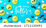 happy father's day banner... | Shutterstock .eps vector #1711133491