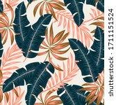 botanical seamless tropical...   Shutterstock .eps vector #1711151524