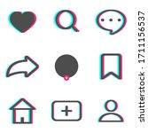 social media icon set app...   Shutterstock .eps vector #1711156537