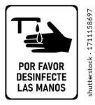 Por Favor Desinfecte Las Manos  ...