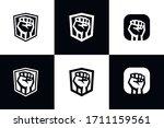 Shield Fist Logo Vector....