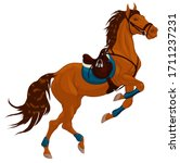 Bay Horse Reared And Bent Its...